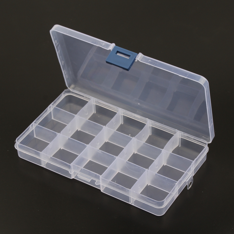 Casket For Decorationjewelry Box 15 Slots Case Craft Organizer Carrying Cases Storage Beads ( Adjustable) Jewelry Packaging Box