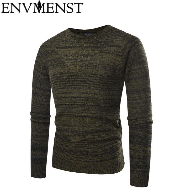 Fashion Solid Color Designer Men Pullover Sweaters  Auutmn Winter New Brand O-Neck Slim Fit Pullovers 2 Colors