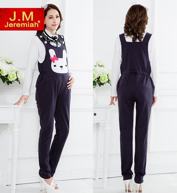 JEREMIAH L~XXL Autumn and Winter Cotton Maternity Overall Warm Pants for Pregnancy Abdomen Trousers