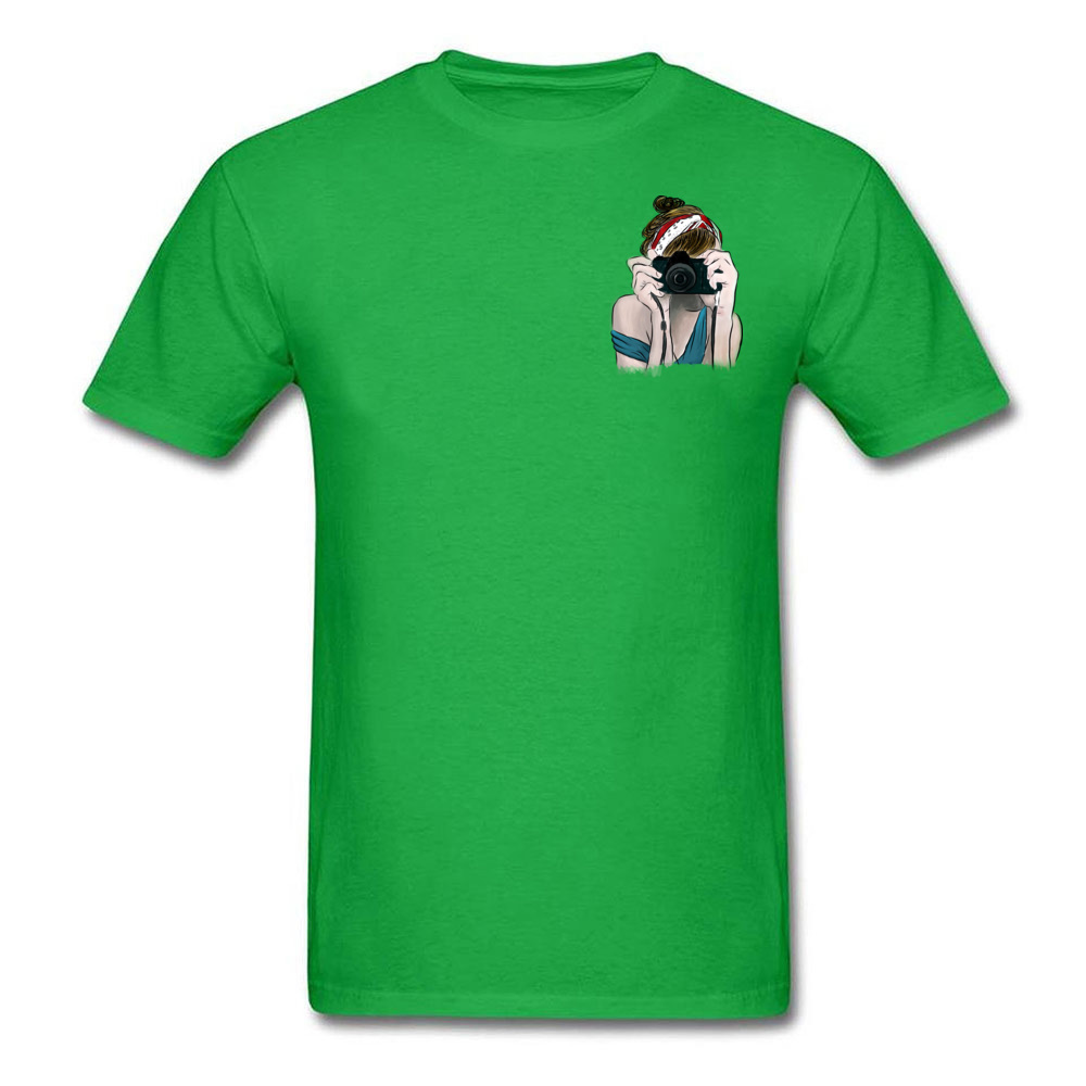 Click Summer T Shirts Men On Sale Short Sleeve T shirts Personalized Photographer Tshirt Pure Cotton Round Collar Girl Tops Tees in T Shirts from Men 39 s Clothing