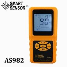 Умный датчик Портативный ЖК-дисплей измеритель сопротивления поверхности тестер Ручной Измеритель сопротивления заземления с функцией удержания данных