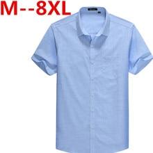 9XL 8XL 7XL 6XL Ali Brand Mens Shirt Summer Casual Embroidery Short Sleeve Shirt Men High Quality Slim Fit Mens Dress Shirt Men
