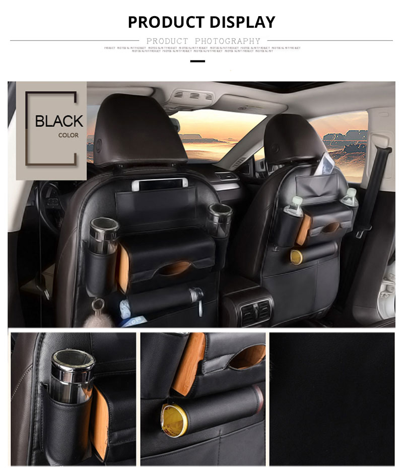 Car Seat Back Storage Bag Universal PU Leather Seats Organizer Travel Box Pocket Stowing Tidying Protector Kids Auto Accessoires (6)