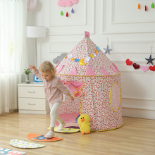 Blue/Pink Prince Foldable Kids Tent House aby tent Tipi Camping Toy Indoor and Outdoor Play Teepees for Children