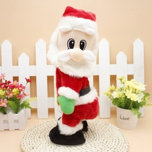 Kids Christmas Electric Plush Toy Doll Santa Claus Dance With Sound Toys Funny Navidad Christmas Decorations Juguetes Gifts