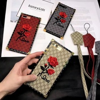 Soft Case For Iphone X 6 6s 7 8 Plus Lady Luxury Big Brand Case Embroidery