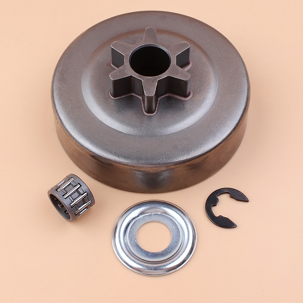 3/8 6T Clutch Drum Sprocket Washer E-Clip Kit For STIHL Chainsaw 017 018 021 023 025 MS170 MS180 MS210 MS230 MS250 1123 640 2003