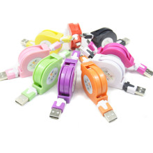 New Retractable Flat Colorful Micro USB Data Sync Cable Charger For Samsung Galaxy S3 S4 S5 S6/HTC Android phone