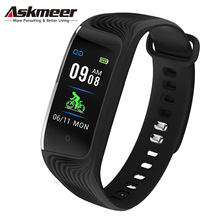 ASKMEER Smart Wristband Bracelet IP67 Waterproof Multi Sport Mode Color Screen Smart Fitness Tracker Heart Rate Health Bracelet