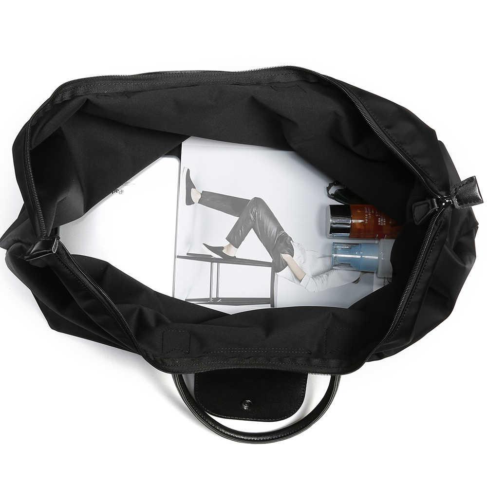"""HOWRU Складная Большая сумка """"Оксфорд"""" Сумка Большая вместительная сумка-шоппер Вместительная дорожная сумка сумки с верхней ручкой дизайнерские нейлоновые сумки Хобо"""