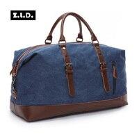 قماش جلد الرجال حقيبة السفر حقائب تحمل على الأمتعة الرجال اليد عارضة السفر أكياس القماش الخشن حمل كبير حقيبة weekend لليلة