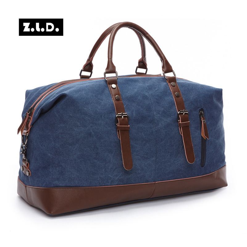 Canvas Leather Men Travel Bag Carry On Luggage Bags Men Hand Casual Travel Duffel Bags Tote Large Weekend Bag Overnight aosbos fashion portable insulated canvas lunch bag thermal food picnic lunch bags for women kids men cooler lunch box bag tote