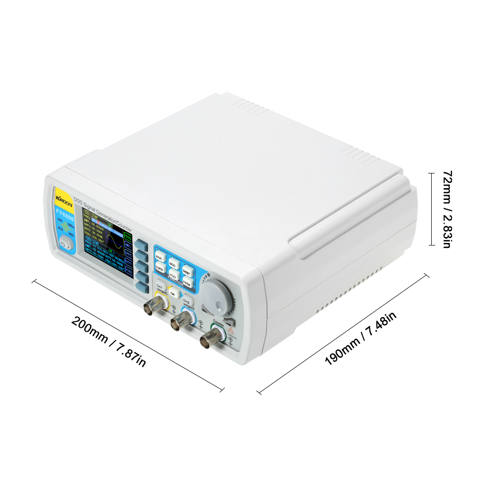 FY6800 Dual channel Digital signal generator DDS Frequency Function Generator Arbitrary Waveform Generator 250MSa/s 14bits 60MHz-in Oscilloscopes from Tools    2