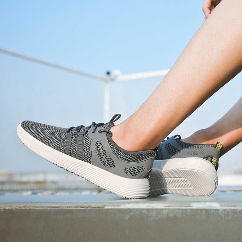 2019 ฤดูร้อนใหม่ผู้ชายรองเท้าน้ำหนักเบา Breathable รองเท้าวิ่งชายรองเท้ากีฬารองเท้าผู้ชายฤดูร้อนรองเท้าผ้าใบแฟชั่น Feminino Zapatos