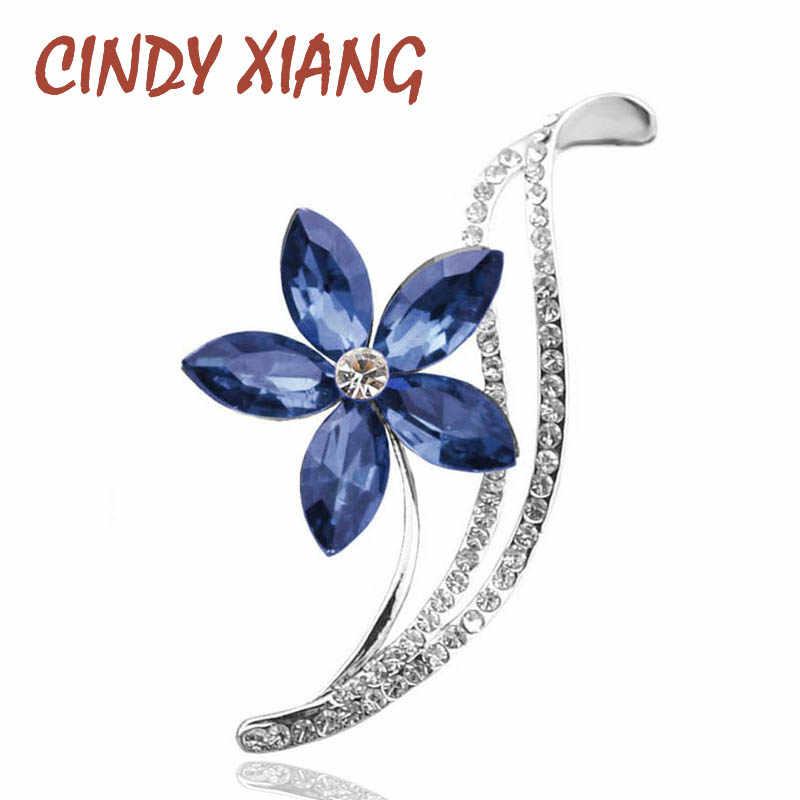 Cindy Xiang Berlian Imitasi Bunga Bros untuk Wanita Desain Sederhana Fashion Perhiasan Pernikahan Pin Bros dan Perhiasan Bros Hadiah
