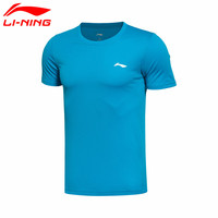Li Ning Men S Running Series T Shirt 100 Polyester Short Sleeve Round Neck Leisure Sports
