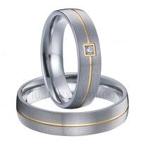 Анель чистый Титан jewelry различные отделки обручальные кольца для обувь для мужчин и женщин