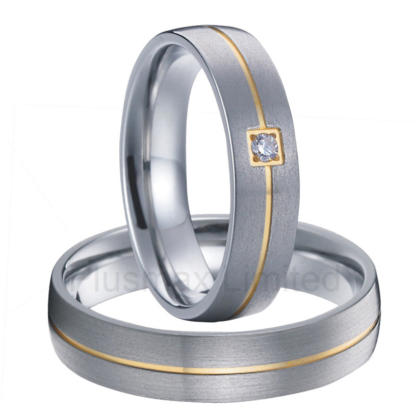 Anel pure Titanium jewelry variety of finishes engagement wedding rings for men and womenAnel pure Titanium jewelry variety of finishes engagement wedding rings for men and women