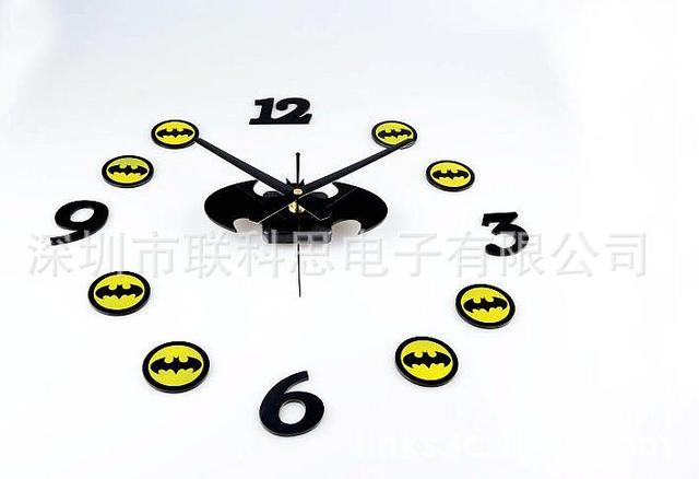 Handmade jam Batman diy jam dinding Anak Kamar Tidur dekorasi Menonton  reloj de dikupas rumah ruang c278f431e5