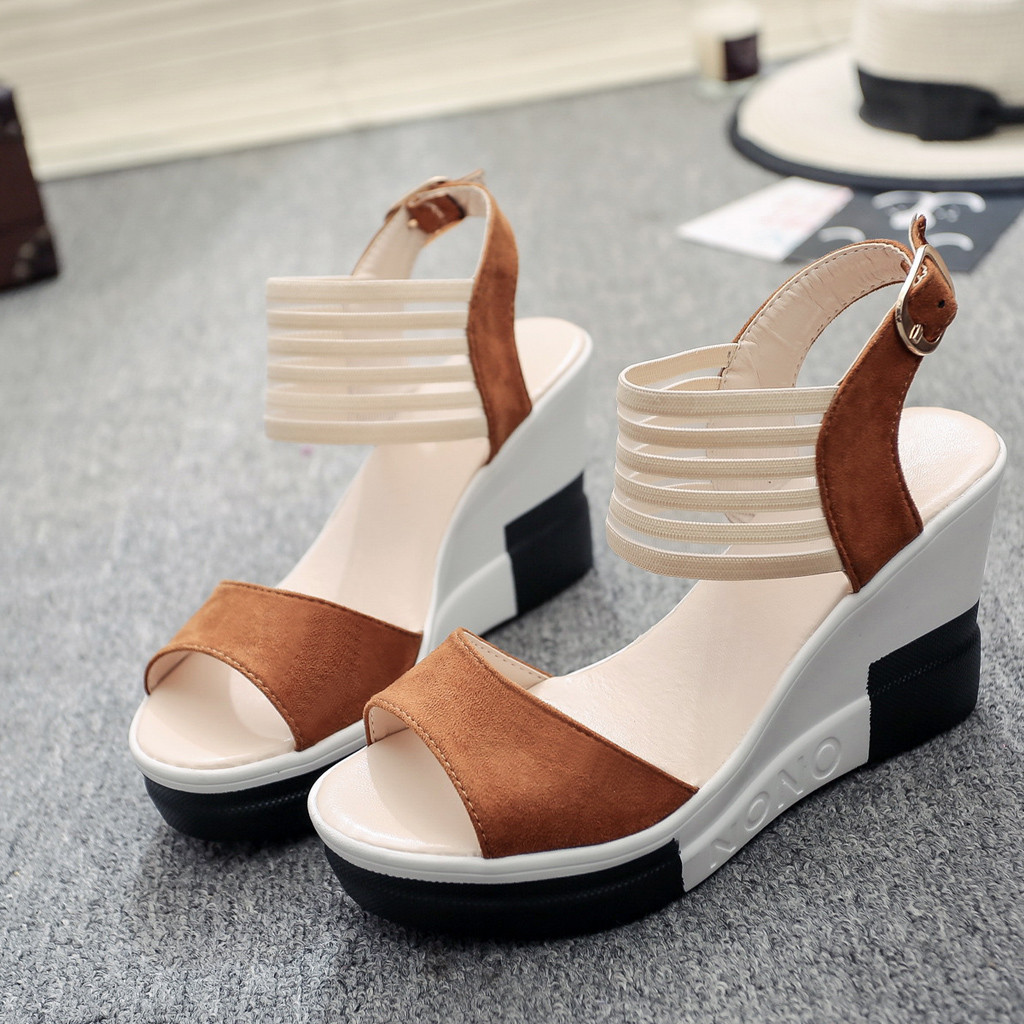new fashion Wedge women Shoes Casual Belt Buckle High Heel Shoes Fish Mouth Sandals 2019 new fashion Wedge women Shoes Casual Belt Buckle High Heel Shoes Fish Mouth Sandals 2019 luxury sandal women buty damskie