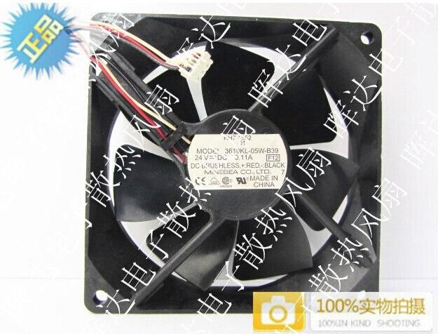 НМБ 9025 9 см 3610kl-05w-b39 24 В 0.11a три проводниковое промышленный компьютер Вентилятор охлаждения