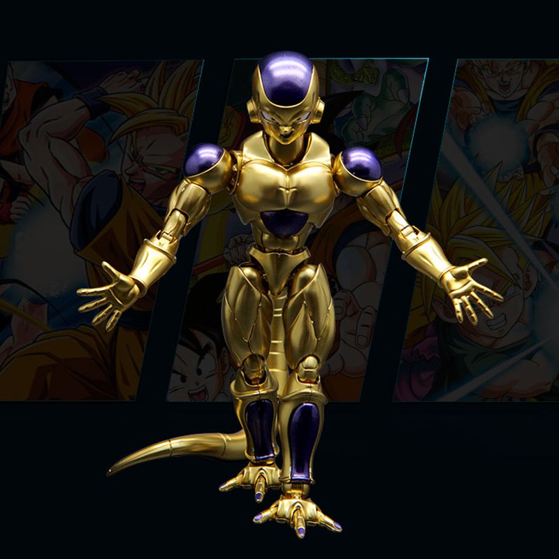 Original Dragon Ball Z Resurrection of Freezer Gold Figure Migatte Metal Coloring Assembled Figure Model Collection toys Gift марк бойков 泰坦尼克之复活 возвращение титаника resurrection of titanic