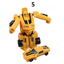 Plastic Robot Cars Action Figure Toys