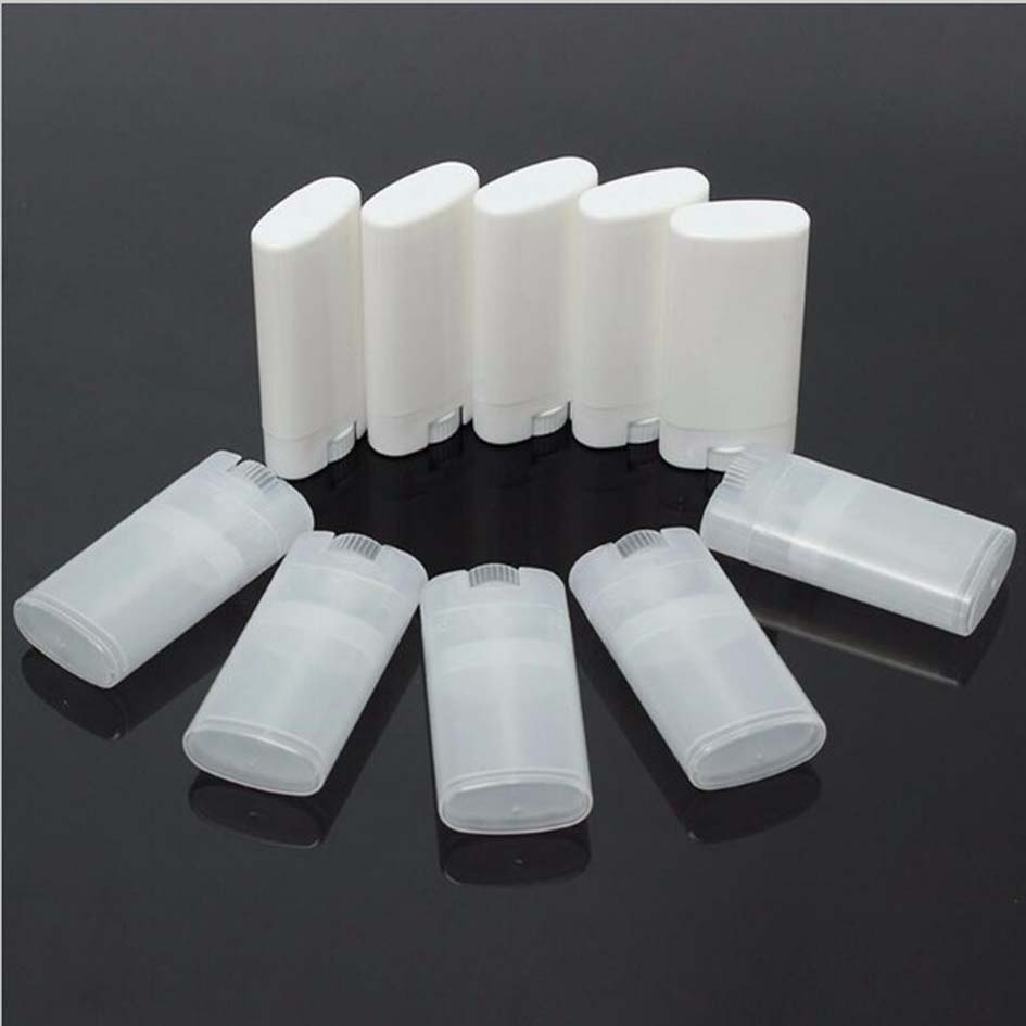 50pcs Lot 15g Ml Diy Empty Oval Lip Balm Tubes Deodorant