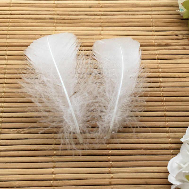 웨딩 모자 헤어 액세서리에 대한 도매 25 pcs 혼합 색상 4-8 cm 거위 깃털 깃털 diy 공예 장식 만들기