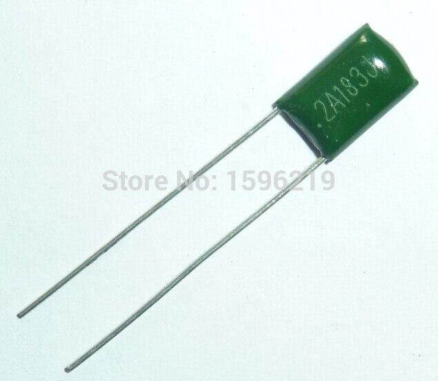 10pcs Mylar Film Capacitor 100V 2A183J 0.018uF 18nF 2A183 5% Polyester Film Capacitor