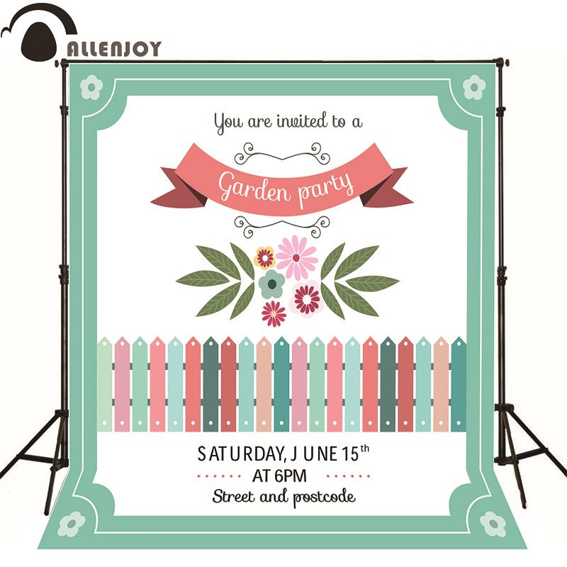 Allenjoy photography backdrop Green flower garden fence photo baby background Without stand 215cm 150cm fundo flower blossoms3d baby photography backdrop background lk 1860