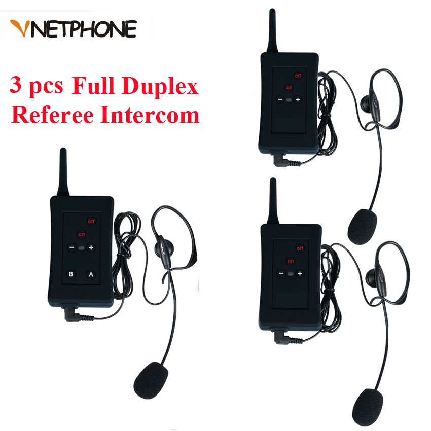 3 pcs 2017 Latest EJEAS Brand Football Soccer Referee Intercom Motorcycle Intercom Full Duplex Bluetooth Referee Headset