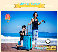Children riding trolley case hardside luggage.TRAVEL ASSISTANT.baby'gift. kids aluminium boarding bag. child waterproof suitcase
