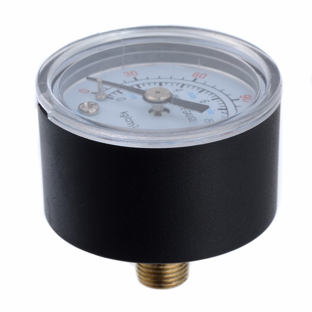 1Pcs 0-180PSI 0-12Bar Dial Type Air Compressor Gauge 1/8