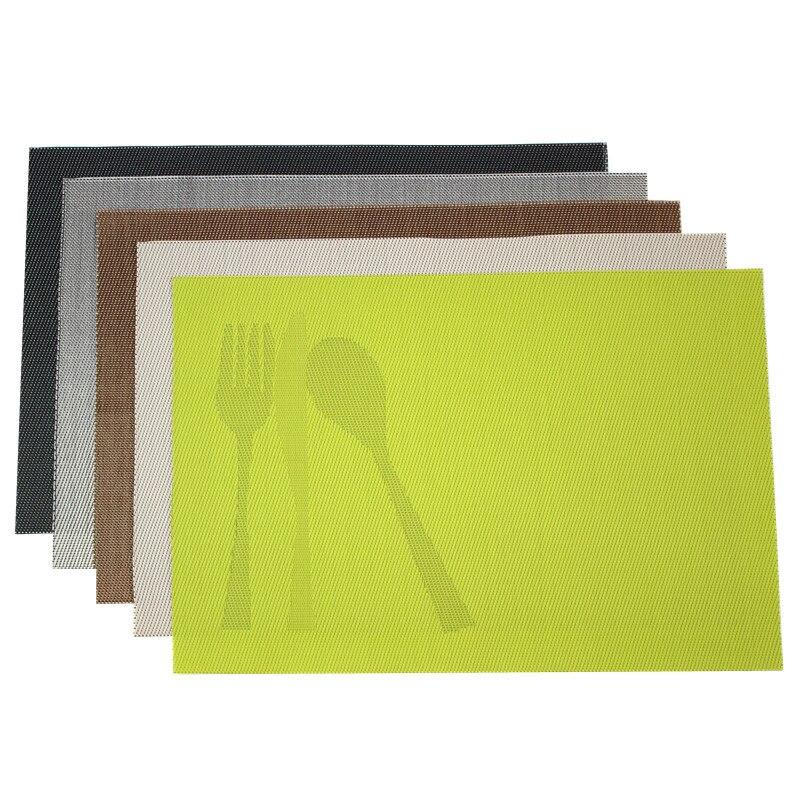4pcslot pvc placemat bar mat 3045cm plate mat table mat set kitchen hot pads kitchen dining bar accessories tools - Kitchen Hot Pads