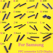 LCD Display FPC connector for Samsung GALAXY S2 S3 S4 S5 S6 edge note 2 3 4 5 J100 J200 E5 S5360 S7562 A8 A9 I9082(China)