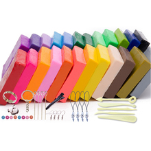 24 Colored Clay Toys with Tools DIY Crystal Mud Clay for Baking Fimo Polymer Light Crystal Soil Slime Playdough Toys for Kids 4pcs set professional playdough tool sculpture tools diy stainless steel fimo polymer clay tools toys for clay carving
