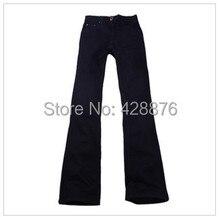 New arrival Autumn males's clothes male boot minimize mid waist plus measurement elastic slim all-match bell-bottom denim denims