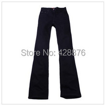 New arrival Autumn males's clothes male boot minimize mid waist plus dimension elastic slim all-match bell-bottom denim denims
