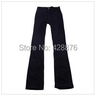 New arrival Autumn men's clothing male boot cut mid waist plus size elastic slim all-match bell-bottom denim jeans  2017 new plus size clothing spring bell bottom jeans female lengthen boot cut mid waist big horn denim trousers