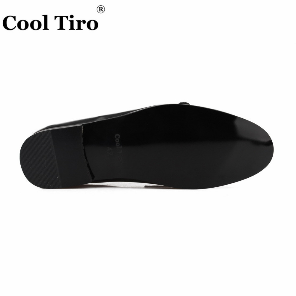 COOL TIRO New Arrivals Calfskin 3 colors Men Navy blue Double buckle Loafers Wedding And Party Smoking Slippers shoes in Men 39 s Casual Shoes from Shoes