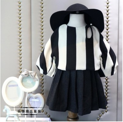 The new girl fall 2016 fashion in the vertical stripes full fleece render unlined upper garment to free shipping