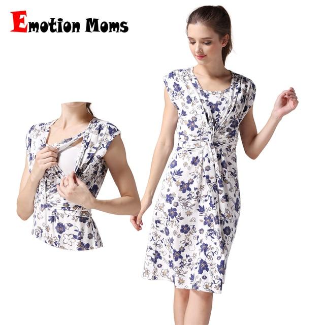 Emotion Moms Летняя одежда для беременных, одежда для кормящих мам, платье  для грудного 605d1a75d3d