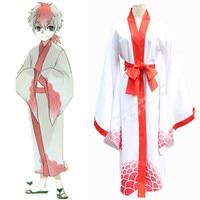 Anime Hoozuki no Reitetsu Cosplay Japan style Goldfish Grass Kimono Unisex Snapdragon Robe with Belt Uniform Halloween Costume