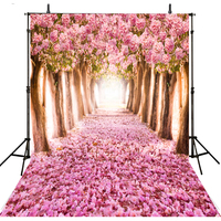 Pink Flower Photography Backdrops Vinyl Backdrop For Photography Foto Achtergrond Floral Wedding Background For Photo Studio