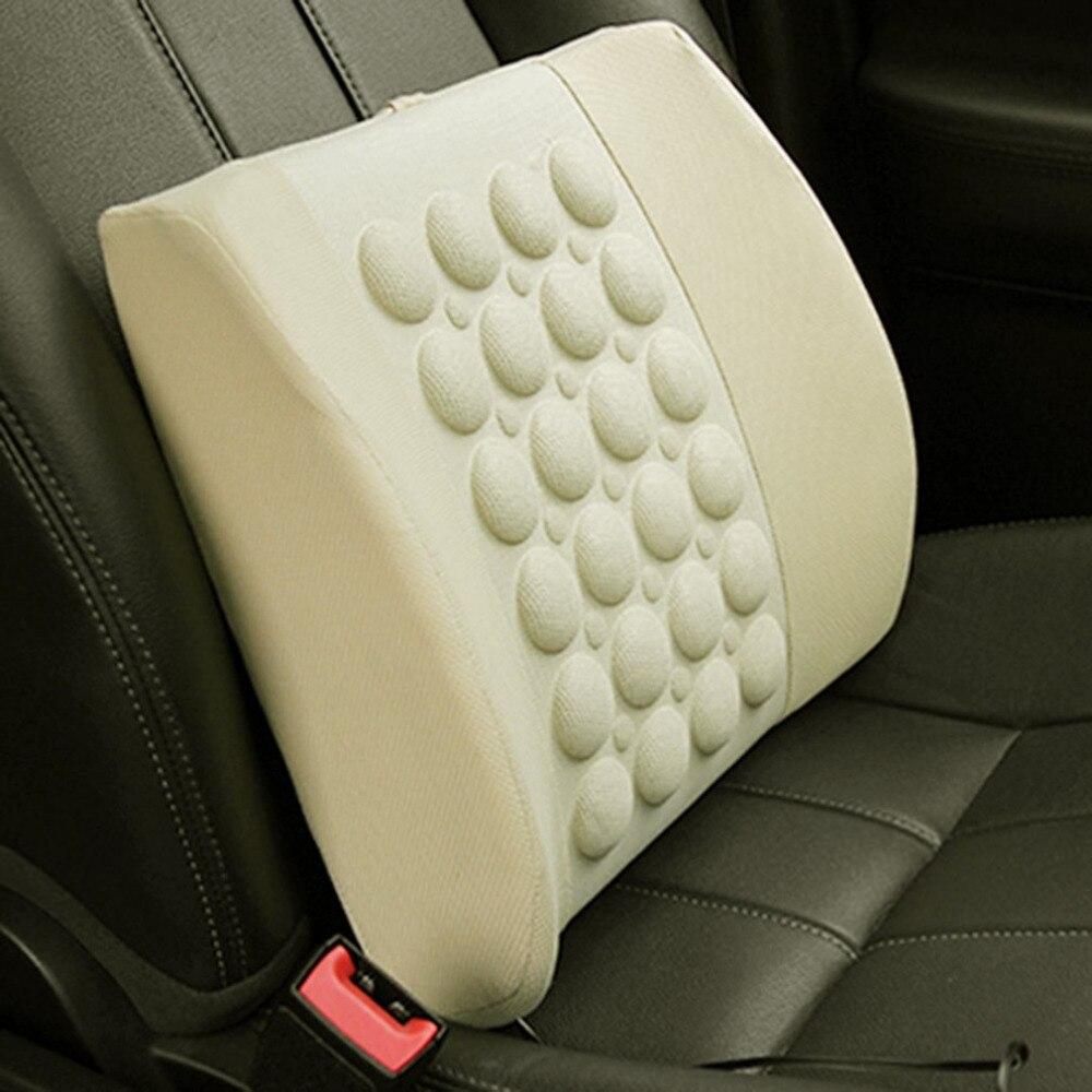 Elektrische Massage Kissen Taille Unterstützung Zurück Lenden Haltung Unterstützung Kissen 12 v Auto Zurück Pad Gesundheit Pflege Werkzeug
