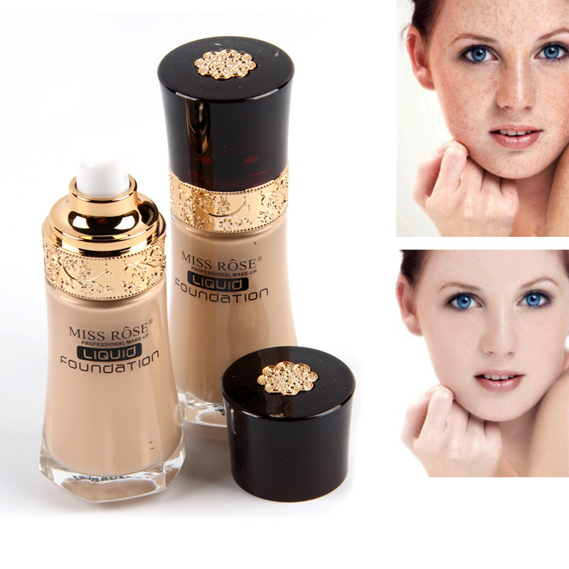 High Quality MISS ROSE Professional Face Base Liquid Foundation Makeup Repair Nourish Pr ...