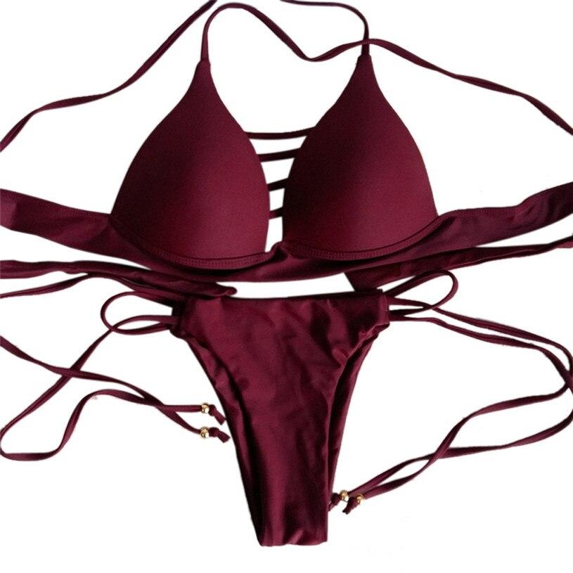 KLV 1set Sexy Women Bikini Set Swimwear Push-Up Padded Bra Swimsuit Beachwear New Arrival A25 цены онлайн