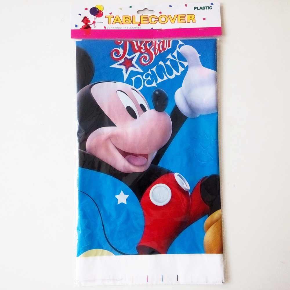 108 Cm * 180 Cm Mickey Mouse Perlengkapan Pesta Taplak Meja Mickey Mouse Kartun Pesta Ulang Tahun Anak-anak Festival Dekorasi Pesta 1