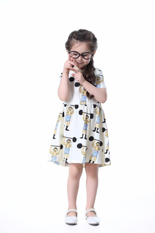 ins hot BOBO CHOSES FRUITS PATTERN GIRLS DRESS FOR GIRLS KIDS CLOTHES VETEMENT ENFANT KIKIKIDS DRESS NUNUNU VESTIDOS BEBE FILLE